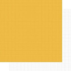 Бумага для скрапбукинга 30*30 см SNAP! YELLOW/GRID