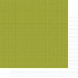 Бумага для скрапбукинга 30*30 см SNAP! GREEN/ELEMENTARY NOTEBOOK