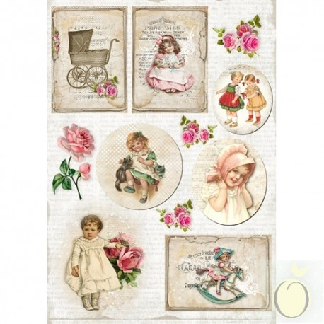 "Карточки ""Vintage Time 003"", А4, 250гр/м"