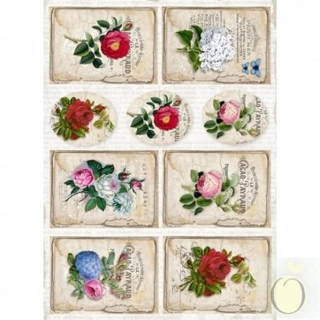 "Карточки ""Vintage Time 002"", А4, 250гр/м"