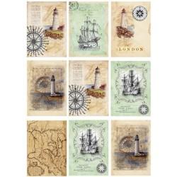 """Карточки """"Море-1"""", А4"""