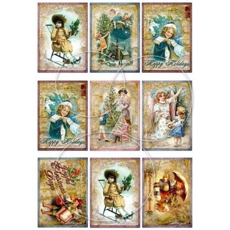"""Карточки """"Новый год-6"""", А4"""