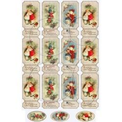 """Карточки """"Новый год-9"""", А4"""