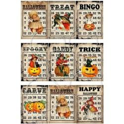 """Карточки """"Хэллоуин-2"""", А4"""