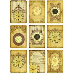 """Карточки """"Часы-1"""", А4"""