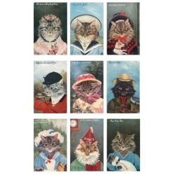 """Карточки """"Ретро-кошки-1"""", А4"""