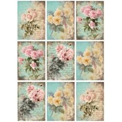 "Карточки ""Розы-1"", А4"