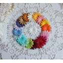 Набор плоских цветочков, микс из 20 цветов, 2.5см