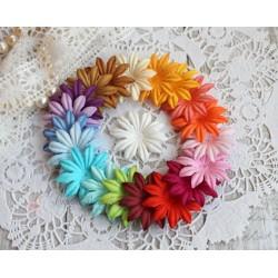 Набор плоских цветочков, микс из 20 цветов, 3см