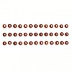 Полужемчужинки клеевые 6мм коричневые, 39шт