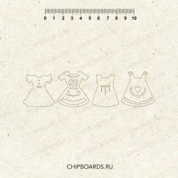 """Чипборд """"Детские платья"""""""