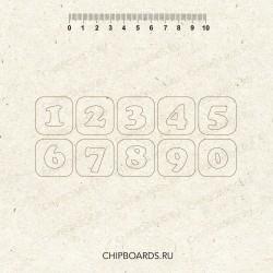 """Чипборд """"Цифры 6"""" Высота 2,8 см"""