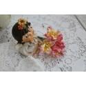 Лилия, цвет белый с розовой окантовкой, 5см, 1шт.