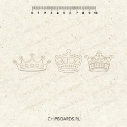 "РАСПРОДАЖА!!! Чипборд ""Царские короны"""