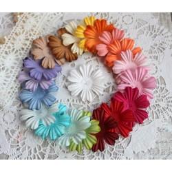 Набор плоских цветочков, микс из 20 цветов, 3.8см