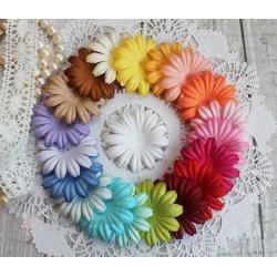 Набор плоских цветочков, микс из 20 цветов, 5см