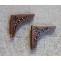 Уголки металлические, винтажная бронза, 45*30мм, 1шт.