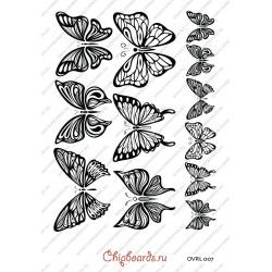 """Пленка-оверлей """"Бабочки"""", черная"""