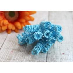 Тычинки-спираль на стебле, цвет голубой, 1*4 см, 1тычинка