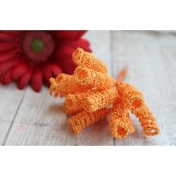 Тычинки-спираль на стебле, цвет оранжевый, 1*4 см, 1шт.