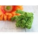 Тычинки-спираль на стебле, цвет зеленый, 1*4 см, 1шт.