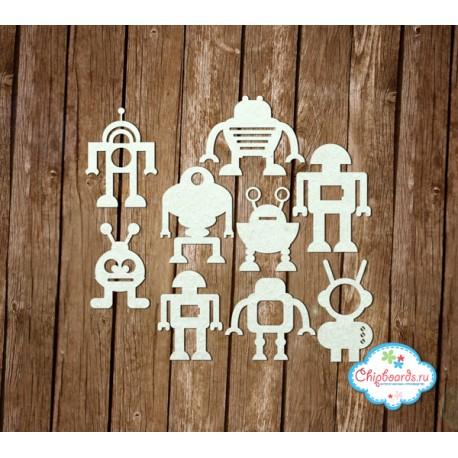"""Чипборд """"Коллекция """"Premium"""". Веселые роботы [1]"""", Средняя высота - 5 см."""