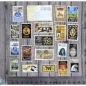 """Вырубка из бумаги """"Набор винтажных марок"""""""