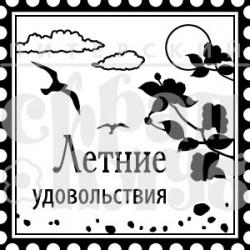 """ФП печать """"Летние удовольствия"""", 3х3см"""