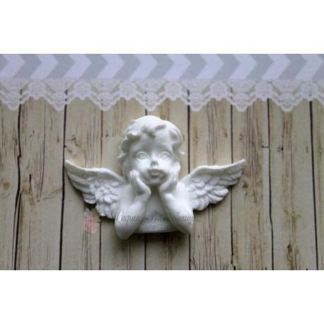 """Пластиковая фигурка """"Задумчивый ангел"""", 53*35мм"""