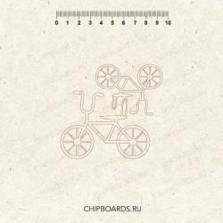 """Чипборд """"Велосипедики детские"""""""