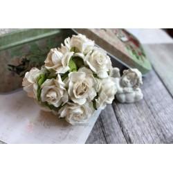 Дикая роза, цвет белый, 3см, 1шт