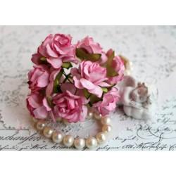 Дикая роза, цвет розовый, 3см, 1шт