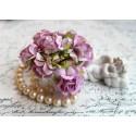 Дикая роза, цвет розовая сирень, 3см, 1шт