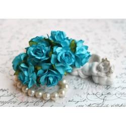Дикая роза, цвет бирюзовый, 3см, 1шт