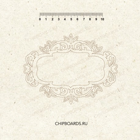 "Чипборд ""Резная рама 10на15"""