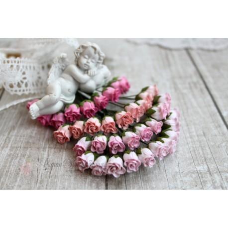 Роза кудрявая в бутонах, 8-10мм, розовые тона, 4 цветочка