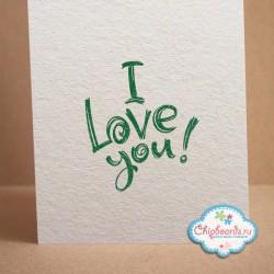 """Штамп """"I Love You!"""", 4,5*5см"""