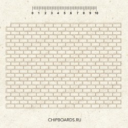 """Чипборд фоновый """"Кирпичная стена"""""""