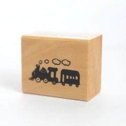 """Штамп резиновый Piccolo """"Паровозик"""", на деревянной основе, 25*13мм"""