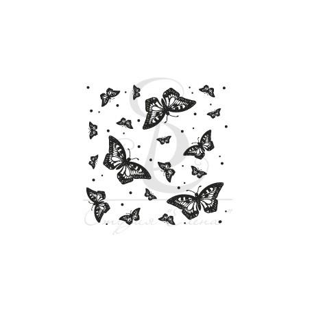 "ФП печать ""Фон бабочки"", 5х5см"