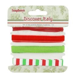 Набор декоративных лент Итальянские каникулы, 4шт по 1м