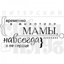 """ФП печать """"В животике мамы"""", 7.2х3.6см"""