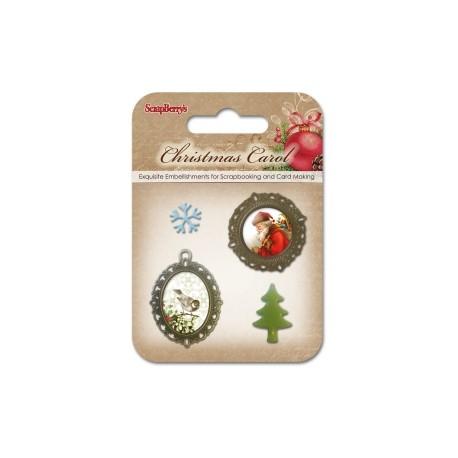 Набор металлических украшений с эпоксидками Ночь перед Рождеством 2