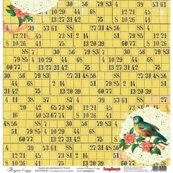 """Бумага для скрапбукинга 30х30см 170 гр/м односторонняя Полдень в саду. Коллекция """"Полдень в саду"""""""