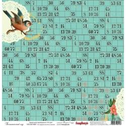 """Бумага для скрапбукинга 30х30см 170 гр/м односторонняя Ботанический сад. Коллекция """"Полдень в саду"""""""