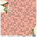 "Бумага для скрапбукинга 30х30см 170 гр/м односторонняя Трели птиц. Коллекция ""Полдень в саду"""