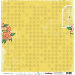 """Бумага для скрапбукинга 30х30см 170 гр/м односторонняя Летний полдень. Коллекция """"Полдень в саду"""""""