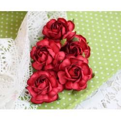 Чайная роза, цвет красный, 4см, 1шт