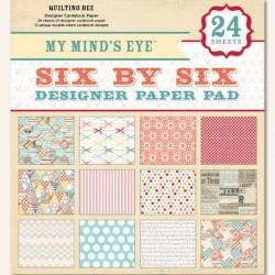 Набор бумаги 15*15 см 24 листа My Mind's Eye Quilting Bee