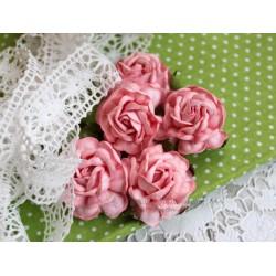 Чайная роза, цвет розовый, 4см, 1шт